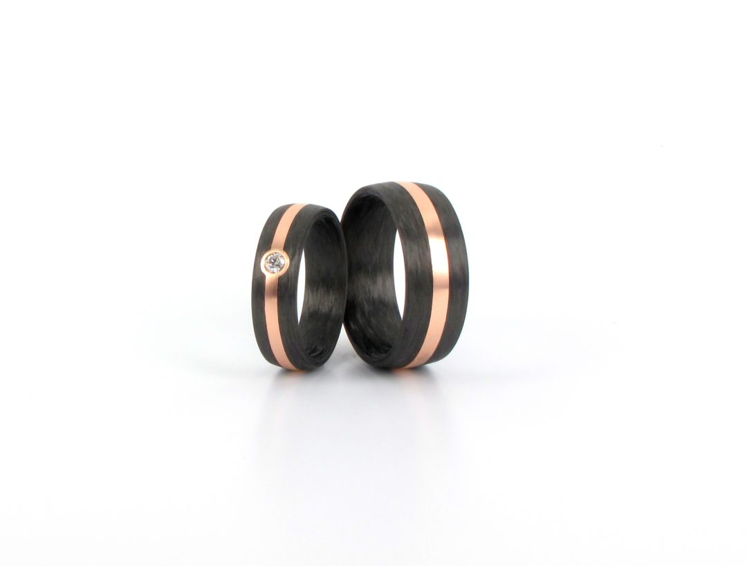 Carbon Rotgold 585