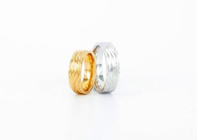 750 Weißgold und Gelbgold